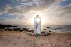 The beauty of the flowers surrounding our couple... Flower Circles really pop! Mahalo to Penny Palmer Photography - award winning wedding photographer