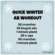 Quick Winter Ab Workout   thelittlehoneybee...