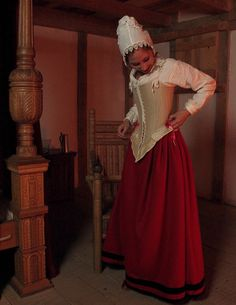 The Couture Courtesan: 17th Century Undergarments Photo Shoot.   She's just so pretty.