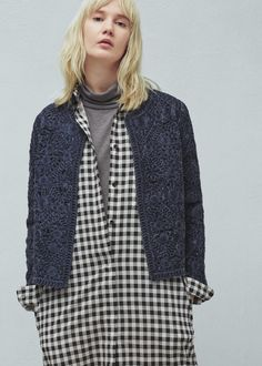 Textured cotton-blend jacket -  Women | MANGO USA