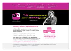 Sitio web para consultora de relaciones públicas en Irapuato, México (amasa)