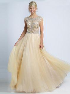 A-Linie/Princess-Stil U-Ausschnitt Ärmellos Perlenstickerei Bodenlang Net Kleider