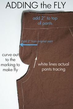 Adding a Faux Fly to Pants Running With Scissors: Tutorial: Oxford Gent Trouser
