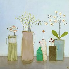 Irish art gallery showing works by artist Eithne Roberts Flower Vases, Flower Art, Potted Flowers, Orchids Painting, Orchid Pot, Still Life Flowers, Irish Art, Z Arts, Still Life Art