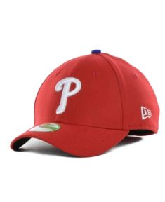 New Era Philadelphia Phillies Team Classic 39THIRTY Kids' Cap or Toddlers' Cap - Red Youth