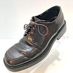 962f72cda010 Bostonian Mens Shoe Strada Italy Leather Brown Oxford Size 7M Apron Toe EU  40