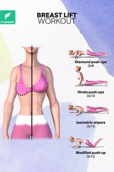 Say NO to the surgery and give it a try in the healthy way. Lift, perk, tone and get that perfect shape for your breasts with these four workouts. Say NO to the surgery and give it a try in the healthy way. Lift, perk, tone and get that perfect shape … Full Body Gym Workout, Gym Workout Videos, Fitness Workout For Women, Fitness Workouts, Easy Workouts, At Home Workouts, Fitness Motivation, Body Fitness, Physical Fitness