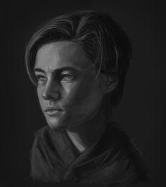 Young Leonardo Dicaprio by JESSICA GUETTA  l Digital painting.  . FOLLOW ME  :  JessicaGuetta.tumblr.com Instagram : @JessicaGuetta  Twitter : @JessicaGuetta  Facebook.com/JessicaGuettaArt
