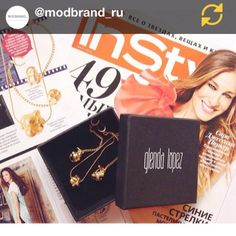 Happy to see the popcorn jewels in the March issue of @InStyleRussia @instylemagazine thanks to @modbrand_ru
