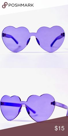 5ccd9659a508 Trendy heart ♥ shaped sunglasses Very trendy sunglasses in purple Accessories  Sunglasses Purple Accessories