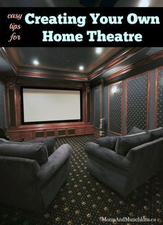 Home Theatre Ideas Home Theatre Ideas – Heimkino Systemdienste Best Home Theater, Home Theater Setup, Home Theater Speakers, Home Theater Seating, Home Theater Design, Movie Theater Rooms, Home Cinema Room, Home Theatre Rooms, Small Home Theaters