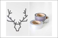 Washi Tape Christmas Craft Ideas or Popsicle sticks and a red nose to hang outside!