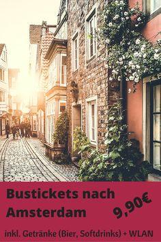 Ihr plant einen Trip nach Amsterdam? Mit diesen Schnäppchen Bustickets bekommt ihr eine Fahrt mit Getränkeservice für nur 9,90€. Alle Infos zum Angebot gibt's hier > http://www.reiseuhu.de/?p=12556 #Amsterdam #Fernbus
