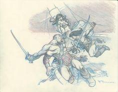 Mark Schultz Mars prelim Comic Art