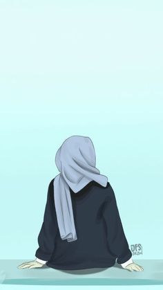 BadassGirlsQuotes Wallpapers for Girls, GirlyWallpapers scarf is the most essential ite Wallpaper Hp, Whatsapp Wallpaper, Cute Girl Wallpaper, Cute Wallpaper Backgrounds, Drawing Wallpaper, Cute Cartoon Girl, Cartoon Art, Photo Islam, Badass Girls Quotes