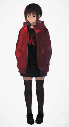 Media Tweets by キツネ (@kitsuneiro) | Twitter Cool Anime Girl, Cute Anime Pics, Anime Art Girl, Manga Art, Anime Girls, Anime Oc, Chica Anime Manga, Character Drawing, Character Concept