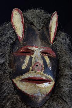 Chewa Nyau  Mask  - Zambia - Katete District African Masks, Headdress, Ears, Ninjas, Fascinators, Ear, Headpiece, Cowls