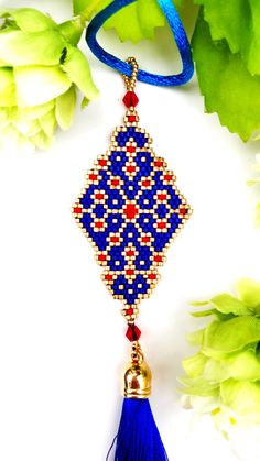 Brick Stitch pattern for this beautiful necklace is now available at SplendidBeads's Etsy Shop Bead Embroidery Jewelry, Beaded Embroidery, Beaded Jewelry, Seed Bead Patterns, Beading Patterns, Stitch Patterns, Bead Crafts, Jewelry Crafts, Design Your Own Jewelry