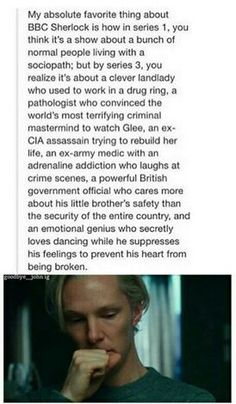 How BBC Sherlock developed is amazing.