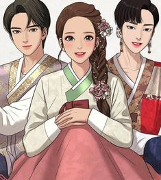 Suho, Jugyeong, and Seojun. Beauty Web, True Beauty, Anime Manga, Anime Art, Cute Love Stories, Anime Couples Drawings, Sailor Moon Manga, Webtoon Comics, Handsome Anime