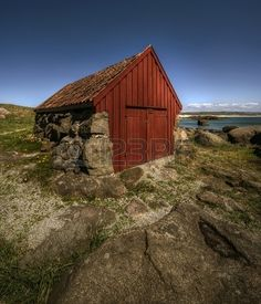 abandon cottage in fishing village