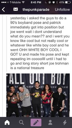 If you don't love Joe trohman, you can show yourself out.