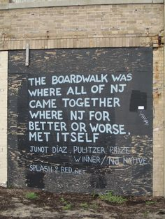 Quote about NJ boardwalk