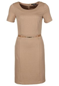 beige dress by More & More #officeattire