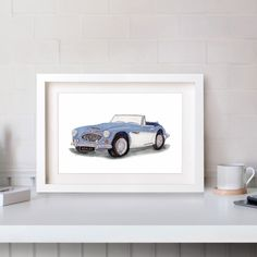 A favourite of ours, the Austin Healey, hand drawn and painted using watercolours. ⠀ We are day dreaming of driving this down some country roads. ⠀ Available in A5, A4 and A3 . . . . . #austinhealey #austinhealey3000mk2 #carillustrations #carsofinstagram #cars #carillustration #carprint #homedecor #prints #smallbusiness #northyorkshirebusiness #yorkshirebusiness 🎨 #art #toptags #artnerd #artsy #painting 🖌 #draw #drawing #painting #color #paint New Year 2017, Austin Healey, Car Illustration, Watercolours, Home Decor Inspiration, A5, Hand Drawn, Studios, How To Draw Hands
