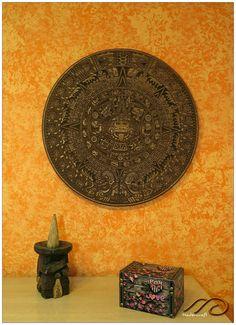 Calendario Azteca para colgar en la pared por MaderCraft en Etsy