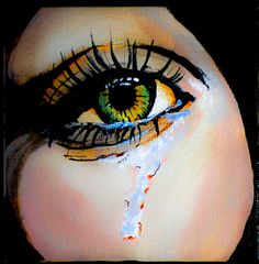 Crying Eye 2 Painting Fine Art Print