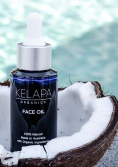 """Coconut and Rosehip Face Oil """"Love this! I also mix a few drops with my Kelapa face moisturiser for dry days . Organic Rosehip Oil, Organic Coconut Oil, Organic Oil, Organic Face Products, Organic Skin Care, Natural Vitamin E, Coconut Oil For Face, Face Oil, Moisturiser"""
