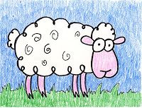 Art Projects for Kids: Cartoon Sheep