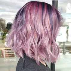 Pearlescent pink hair colors with deeper metallic undertones  by Linh Phan www.hotonbeauty.com