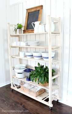 DIY replica vintage shelving free plans | That's My Letter | Home Decor, Design, Kitchen or Office Idea