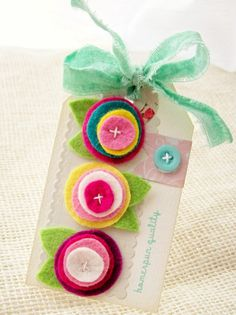 Wool Blend Felt Flower Embellishments and by creativepapertrail, $2.25