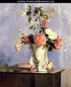 Bouquet Of Flowers  Camille Pissarro