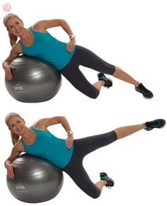 10 Must-Do Strength Training Moves For Women Over 50: Stability Ball Side Leg Lift