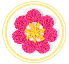 Flor de Siete Pétalos a Crochet #1 | PATRONES VALHALLA // Patrones gratis de ganchillo