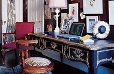 Park Avenue Study - Glamorous Office Design - ELLE DECOR