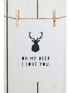 Oh My Deer Print