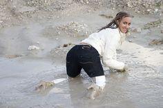 The Wet and Messy Shoe Forum :: View topic - Black jeans, white down jacket and white thigh high boots. White Thigh High Boots, High Heel Boots, Heeled Boots, Mudding Girls, Vinyl Clothing, Vogue Uk, Rain Wear, Bikini, Girl Cartoon