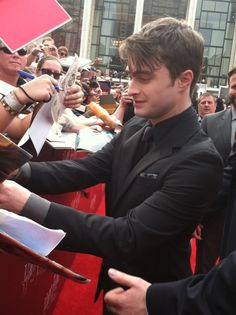 Daniel Radcliffe at Harry Potter and the Deathly Hallows - Part 2: NY Premiere.