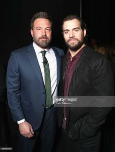 """Actors Ben Affleck (L) and Henry Cavill at CinemaCon 2017 Warner Bros. Pictures Invites You to """"The Big Picture"""", an Exclusive Presentation of our Upcoming Slate at The Colosseum at Caesars Palace during CinemaCon, the official convention of the National Association of Theatre Owners, on March 29, 2017 in Las Vegas, Nevada."""