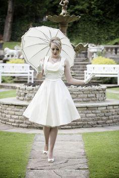 1950s wedding photoshoot © brucegordonphoto.co.uk featuring Lindy Bop Ophelia wedding dress: http://www.lindybop.co.uk/dresses-c1/ophelia-ivory-swing-dress-p184
