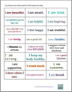 These positive affirmation notes for kids are such a cool idea to surprise kids in the lunchboxes! Give them the school encouragement they need on a daily basis! Get your own printable copy of these affirmation notes here! #teachmama #lunchboxnotes #teaching #momhelps #parentingtips #school #education #schoollife