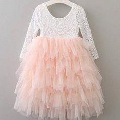 Dresses   New White Lace Pink Tutu Flower Girl Dress Gown   Poshmark