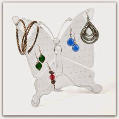 Joyero mariposa metacrilato para guardar los pendientes. Se vende en indalonaturacosasbonitas.es