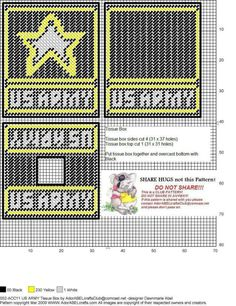 US ARMY TISSUE BOX COVER by DAWNMARIE ABEL