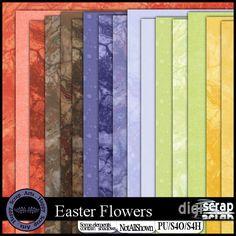 Happy Scrap Arts | Een mooie kit met veel lente bloemen, geschikt voor al jouw lente foto's. <br />